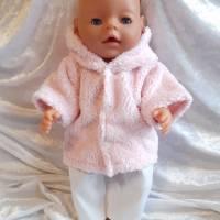 2 Tlg Set Puppenkleidung  Jacke und Hose für Puppen  von 42 cm - 43 cm Bild 1