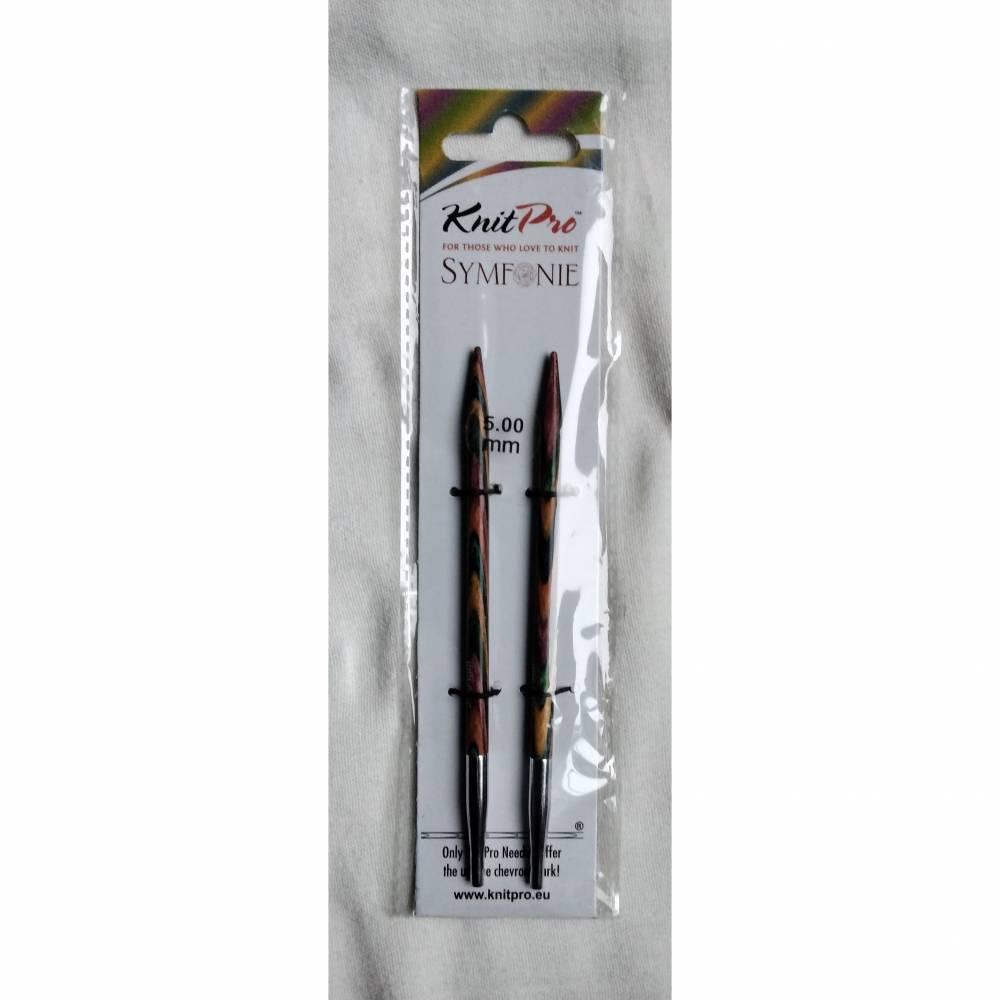 Knit Pro Symfonie, austauschbare Rundstricknadeln aus Holz in den Stärken 5, 4,5, oder 4mm Bild 1