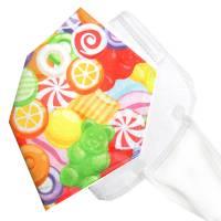 Überzug für FFP2 Masken *Zuckersüß* einlagig Baumwolle waschbar FFP2 Mask Cover Verschönern Bild 1