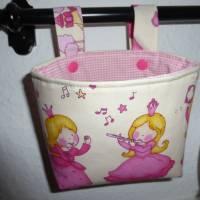Lenkertasche 'Prinzessin', Hängeutensilo, Unikat hessmade Bild 1