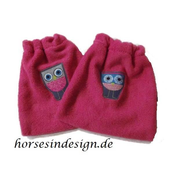 Steigbügelschoner - Eule - pink Bild 1