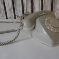 Vintage Telefon mit Wählscheibe   1960/70s Telefon beige   Deutsche Post Fernsprechgerät  Bild 2