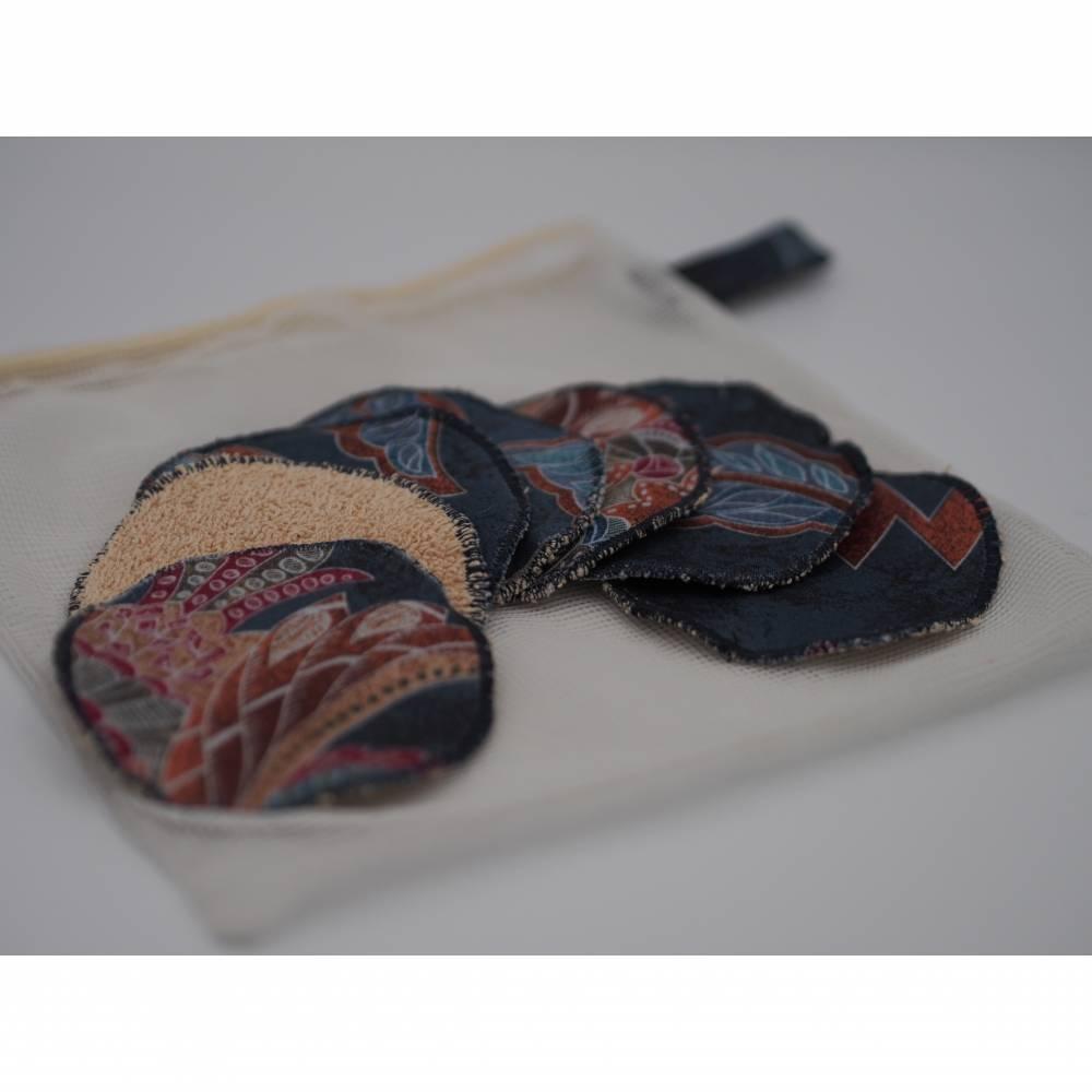 Wiederverwendbare waschbare Abschminkpads Kosmetikpads, Upcycling-Produkt 7 Stück  Bild 1