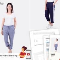 Schnittmuster Damenhose Dana, bequeme Hose mit Stil, Größen: 32 bis 54, für Damen - Kleidung, Papierschnitt  Bild 1