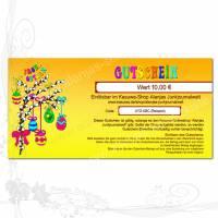 """Geschenk-Gutschein """"Ostern-DIN-lang"""" Preis anpassbar, 300g-Papier-Karte für den Kasuwa-Shop Alanjas Junkjournalwelt Bild 1"""