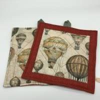 Topflappen aus Stoff, Patchwork-Topflappen mit antiken Ballons Bild 2