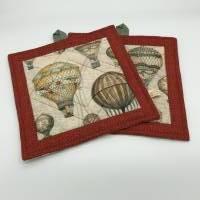 Topflappen aus Stoff, Patchwork-Topflappen mit antiken Ballons Bild 3