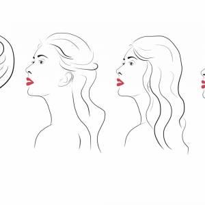 Haarspange Silber, Trachten Haarspange Dirndl Schmuck, Metall Haarspange Jugendstil, Hochzeit Haarspange Braut Bild 6