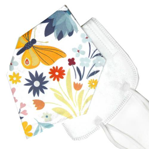 Überzug für FFP2 Masken *Frühling* einlagig Baumwolle waschbar FFP2 Mask Cover Verschönern unisex