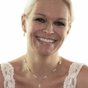 Y Perlenkette Hochzeit, 925 Silber, Swarovski Kristalle, Geschenkbox, Halskette mit Perlen, Brautschmuck, Perlen Collier Bild 1