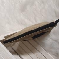 Kosmetiktasche S mit Isländer, Kulturtasche Koordinaten, Schminktasche Stern, Etuitasche, Tasche, Waschbeutel, Canvas Bild 3