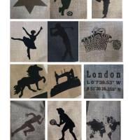 Kosmetiktasche S mit Isländer, Kulturtasche Koordinaten, Schminktasche Stern, Etuitasche, Tasche, Waschbeutel, Canvas Bild 8