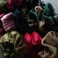 SCRUNCHIES. Samt.Scrunchie.Haarbänder.Stretch-Samt. Pannesamt. Bild 10
