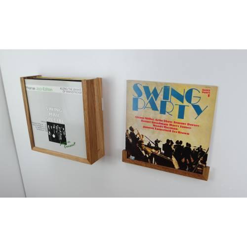 Schallplatten Wandaufbewahrung Holz Eiche Buche Aluminium PLAYLIST