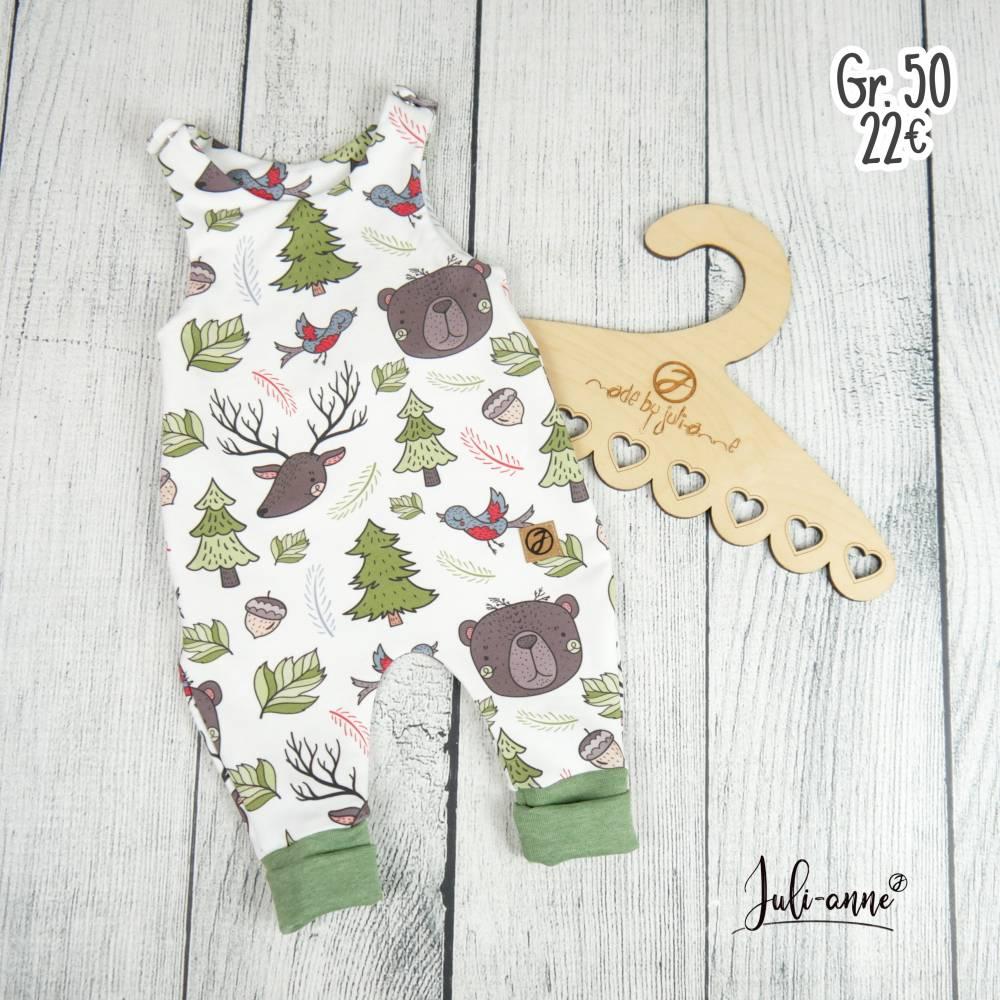 Jungen Baby Strampler Waldtiere Gr. 50 Bild 1