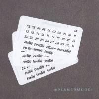 Mini Planersticker Monthly (026) Bild 1