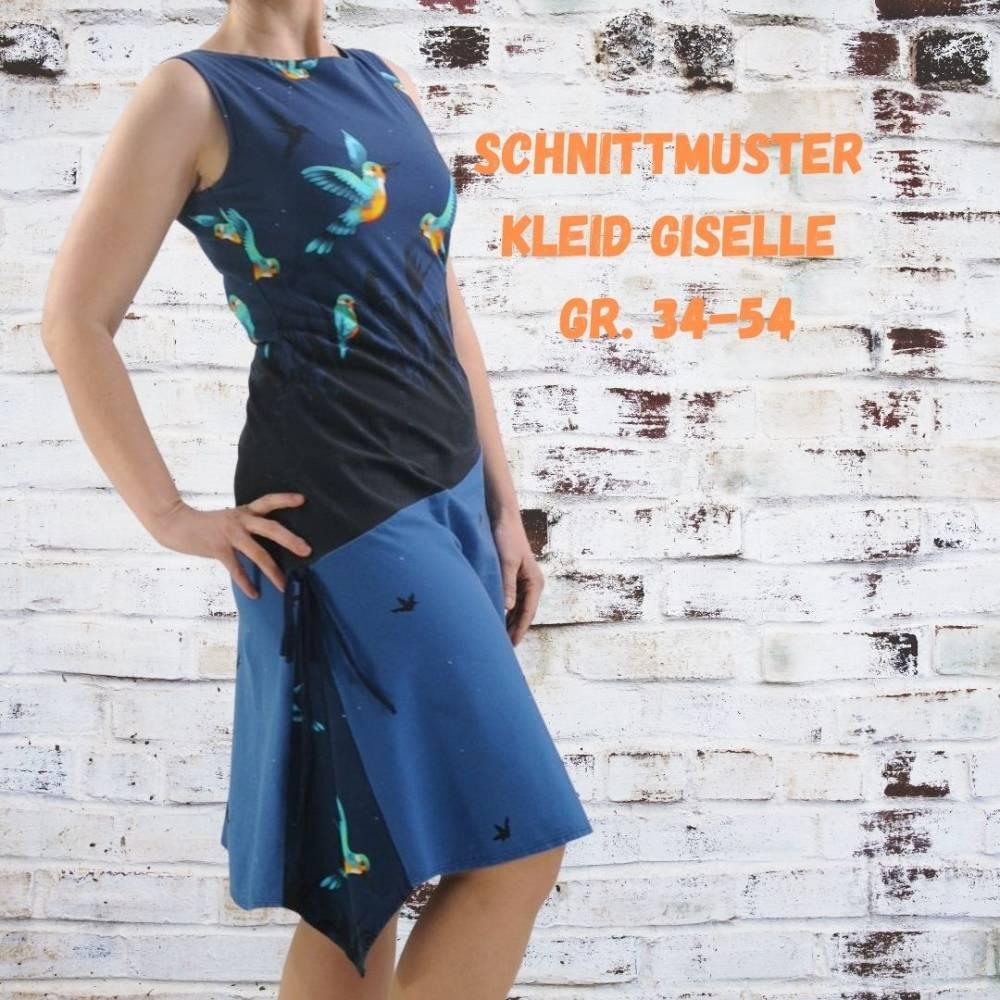 Damenkleid Giselle Gr. 34-54 pdf-Schnittmuster +  Nähanleitung - Jerseykleid - Sommerkleid - Kleid A-Linie Bild 1