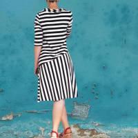 Damenkleid Giselle Gr. 34-54 pdf-Schnittmuster +  Nähanleitung - Jerseykleid - Sommerkleid - Kleid A-Linie Bild 5