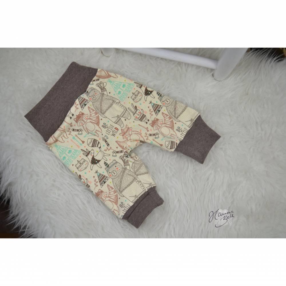 Basic Babyhose, Pumphose, Größe 56, Gr.56, mitwachsende Hose, bequeme Hose für Babys, HannaBell Basics Bild 1