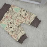 Basic Babyhose, Pumphose, Größe 56, Gr.56, mitwachsende Hose, bequeme Hose für Babys, HannaBell Basics Bild 2