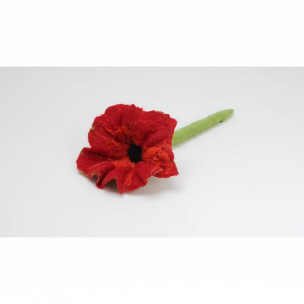 Kugelschreiber Blume aus Filz, besonderes Schreibgerät. Filzblüte, Stift, Schreibutensilien Ostergeschenk Bild 1