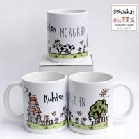 Tasse Keramik Kuhten Morgähn Bauernhof Landleben Kuh Bild 1