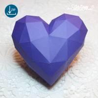 Dreidimensionales Herz, Plotter-Datei, Muttertagsgeschenk mit Herz, inklusive ausführlicher Anleitung, in svg und dxf Bild 1