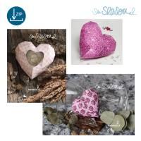 Dreidimensionales Herz, Plotter-Datei, romantisches 3D-Herz für Valentinstag oder Hochzeit, mit Anleitung, svg dxf Bild 4