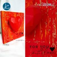 Dreidimensionales Herz, Plotter-Datei, romantisches 3D-Herz für Valentinstag oder Hochzeit, mit Anleitung, svg dxf Bild 6