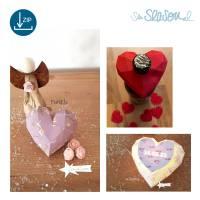 Dreidimensionales Herz, Plotter-Datei, romantisches 3D-Herz für Valentinstag oder Hochzeit, mit Anleitung, svg dxf Bild 7