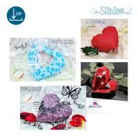 Dreidimensionales Herz, Plotter-Datei, romantisches 3D-Herz für Valentinstag oder Hochzeit, mit Anleitung, svg dxf Bild 8