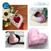 Dreidimensionales Herz, Plotter-Datei, romantisches 3D-Herz für Valentinstag oder Hochzeit, mit Anleitung, svg dxf Bild 9