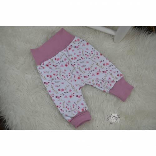 Basic Babyhose, Pumphose, Größe 56, Gr.56, mitwachsende Hose, bequeme Hose für Babys, HannaBell Basics