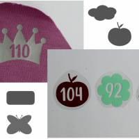 Größenetiketten zum Aufbügeln Kinderkleidung selbst genäht 10er, 20er Set Bild 1
