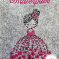 Mutterpasshülle Filzhülle Mutterpass Ballerina personalisierbar Bild 2