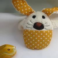 Ein Ei mit Überraschung mal was anders Stoffhäschen Hase in ein Ei  Ostern, Frühling, Puschel Bild 4