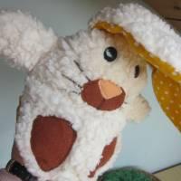 Ein Ei mit Überraschung mal was anders Stoffhäschen Hase in ein Ei  Ostern, Frühling, Puschel Bild 5