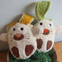 Ein Ei mit Überraschung mal was anders Stoffhäschen Hase in ein Ei  Ostern, Frühling, Puschel Bild 6