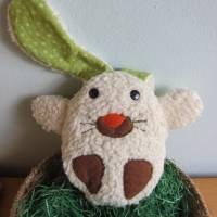Ein Ei mit Überraschung mal was anders Stoffhäschen Hase in ein Ei  Ostern, Frühling, Puschel Bild 7
