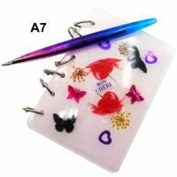Kleines A7 Notizbuch, Notizheft, Tagebuch, Planer mit Stift Bild 1