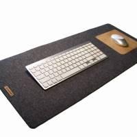 Schreibtischunterlage mit Mauspad Handmade Merino Wollfilz Filz Kork Farb- und Größenauswahl Bild 2