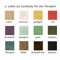 Schreibtischunterlage mit Mauspad Handmade Merino Wollfilz Filz Kork Farb- und Größenauswahl Bild 3