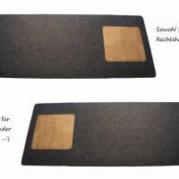 Schreibtischunterlage mit Mauspad Handmade Merino Wollfilz Filz Kork Farb- und Größenauswahl Bild 5