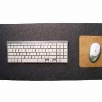 Schreibtischunterlage mit Mauspad Handmade Merino Wollfilz Filz Kork Farb- und Größenauswahl Bild 6