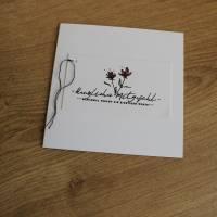 """Quadratisches Kartenset """"Herzliches Mitgefühl"""" aus der Manufaktur Karla Bild 2"""