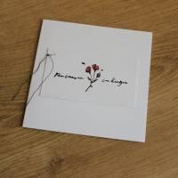 """Quadratisches Kartenset """"Herzliches Mitgefühl"""" aus der Manufaktur Karla Bild 4"""