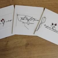 """Quadratisches Kartenset """"Herzliches Mitgefühl"""" aus der Manufaktur Karla Bild 8"""