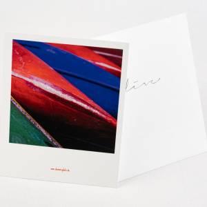 Postkarte im Retro-Stil 'Bunte Boote' Bild 1