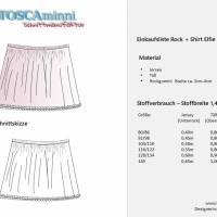 Raglanshirt + Tüllrock Elfie Gr. 80 - 140 Papierschnittmuster + Nähanleitung - Shirt aus Jersey für Nähanfänger  Bild 4