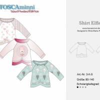 Raglanshirt + Tüllrock Elfie Gr. 80 - 140 Papierschnittmuster + Nähanleitung - Shirt aus Jersey für Nähanfänger  Bild 5